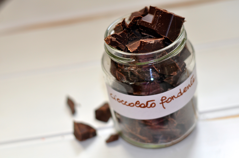 cioccolato-fondente mirtilli a colazione