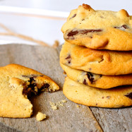 chocolate chips cookies mirtilli a colazione