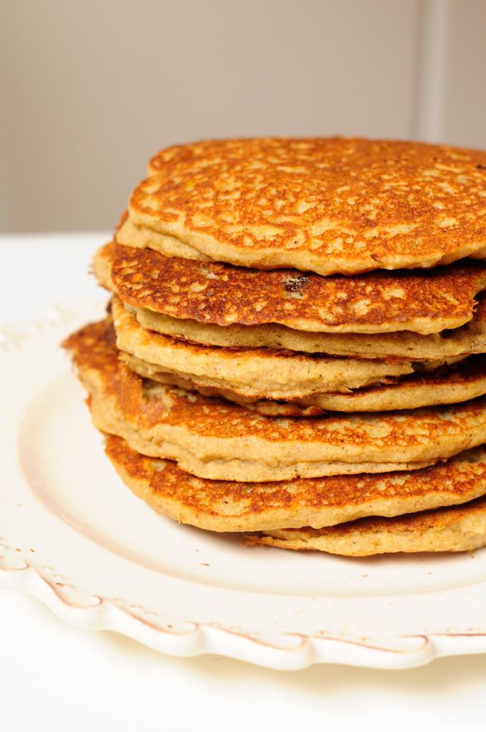 crepes di teff mirtilli a colazione
